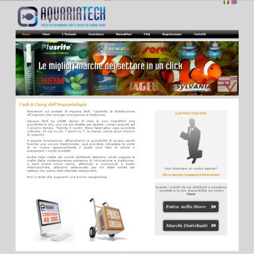 Portfolio Ingematic - Cliente Aquaria Tech - Anteprima Sito Web Istituzionale