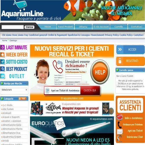 Portfolio Ingematic - Cliente AquariumLine - Anteprima Sito Web Ecommerce
