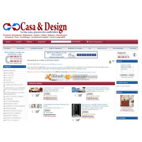 Portfolio Ingematic - Cliente Casa&Design Shop - Anteprima Sito Web Ecommerce