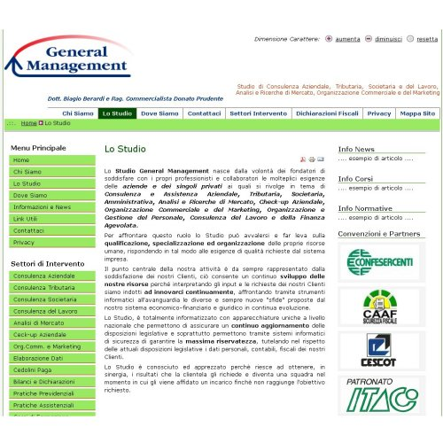 Portfolio Ingematic - Cliente General Management - Anteprima Sito Web Ecommerce