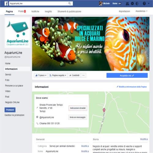 Portfolio Ingematic - Cliente AquariumLine - Anteprima Pagina Facebook