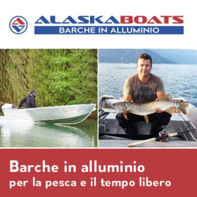 Portfolio Ingematic - Cliente Alaska Boats - Promotional Web Advertising - Azienda Vendita Barche in Alluminio per la Pesca Sportiva ed il Tempo Libero