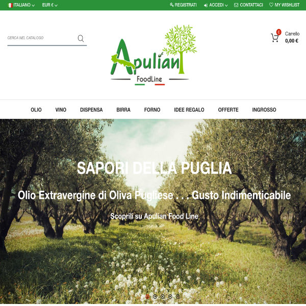 Slide Anteprima E-commerce ApulianFoodLine - Servizi Ingematic