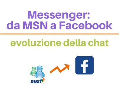 Messenger: da MSN a Facebook, evoluzione della chat