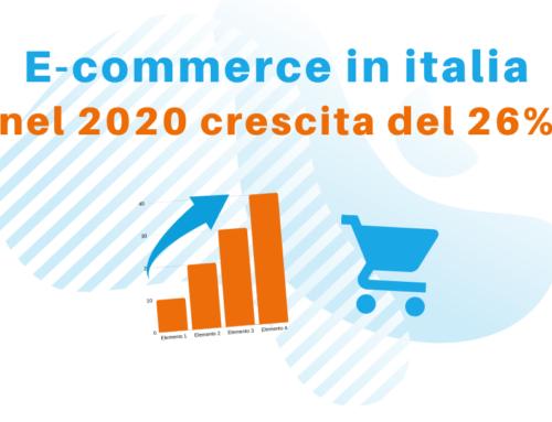 E-commerce in Italia: nel 2020 crescita del 26 percento